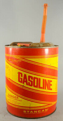 Vintage Stan Can Metal 5 Gal Gas Can With Spout Man Cave/ Garage  Georgia USA