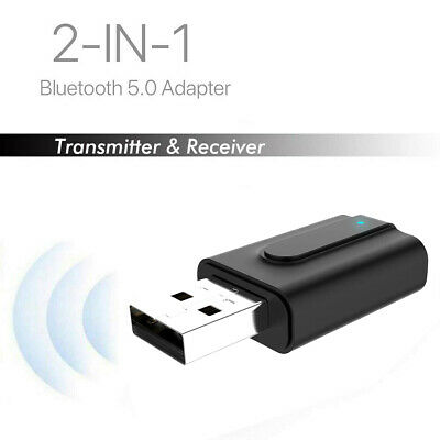 2 in 1 Bluetooth 5.0 Transmitter Receiver USB Portable Wireless Audio Adapter AU