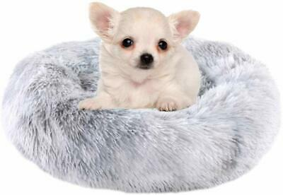 Calming Bed For Dogs Cats - Faux Fur Donut Cuddler Dog Beds For Medium Dogs, Mod