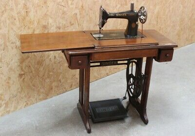 Vintage Singer 15k Sewing Machine & Cast Iron Treadle [5942]