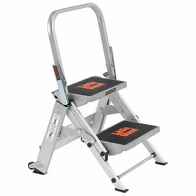 Little Giant 10210BA Safety Aluminum Step Ladder, 2 Step