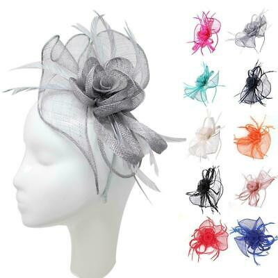 Sinamay Curl Headband Fascinator Alice band Wedding Ladies Day Races Royal Ascot