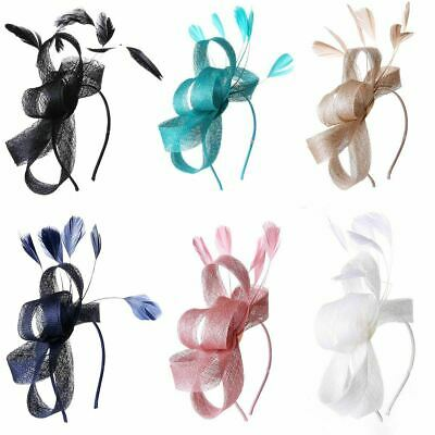 Sinamay Looped Feather Headband Fascinator Wedding Ladies Day Royal Races Ascot