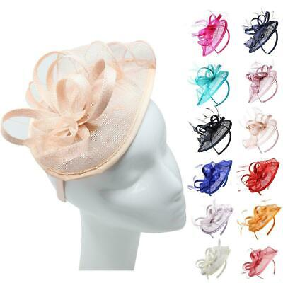 Teardrop Fascinator Hat Alice band Wedding Hatinator Ladies Day Race Royal Ascot
