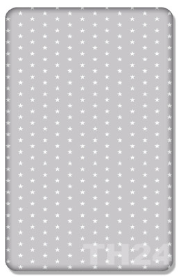 BABY FITTED COT SHEET PRINTED DESIGN 100% COTTON MATTRESS 120x60cm,Small Stars