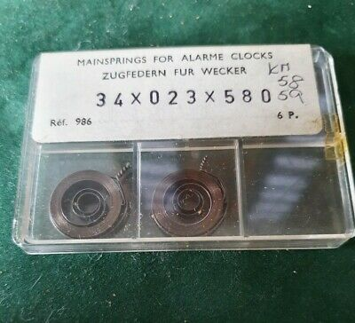 Alarm Clock Mainspring 34 x 023 x 580 NOS