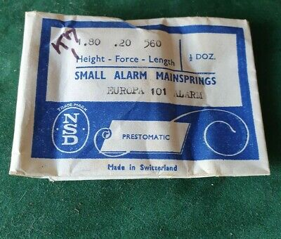 Small Alarm Clock Mainspring 1.8 x 0.2 x 560 NOS