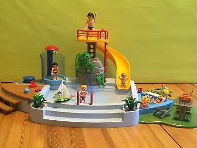 Playmobil 4858 Pool with Water Slide & Baby Pool - Used, good condition