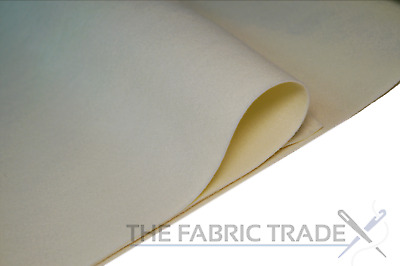 Cream Ivory Craft Felt Fabric Material 100% Acrylic 2mm Thick 150cm Wide