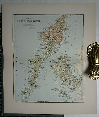 1892 - Antique Ordnance Gazetteer Map of The Hebrides & Skye - Scotland
