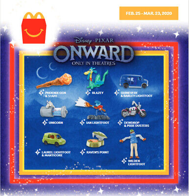 2020 McDONALD'S Disney Onward Pixar HAPPY MEAL TOYS Choose Toy or Set
