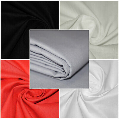 """Premium Plain Polycotton Bed Sheeting Fabric 94"""" Extra Wide - SOLD BY THE METRE"""
