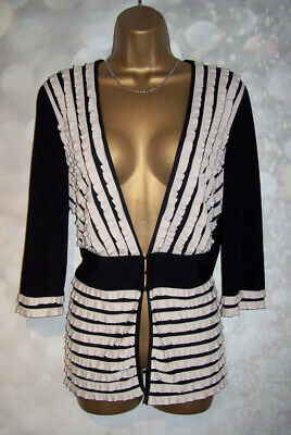 LADIES JOSEPH RIBKOFF VINTAGE 1980'S TOP SIZE 16, Stretch jacket ruffle trim