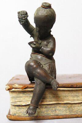 An Antique Un-Finished 2 Parts 18/19 Century Bronze Figure (One Of A Collection)
