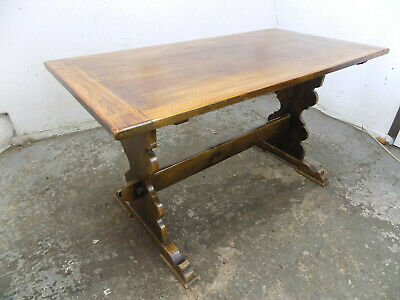 oak,small,refectory,dining table,pedestal base,table,kitchen,vintage,1930's
