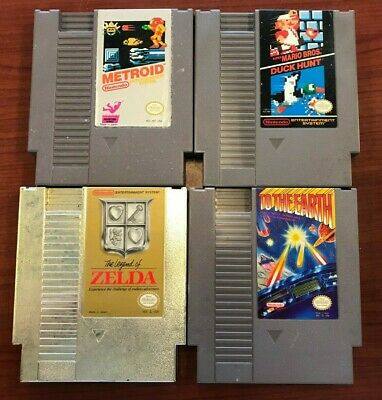 Lot of 4 with The Legend Of Zelda / Super Mario Bros   Nintendo NES Game