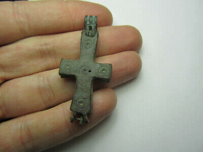 Byzantine Empire (8th-10th century) Engolpion Cross Reliquary. Solar cross