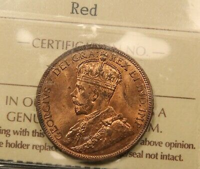 1916 Canada Large Cent MS-65 Red ICCS Gem Uncirculated. BV $450