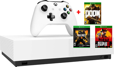 [+3 GAMES] Microsoft Xbox One S 1TB All Digital Edition Console