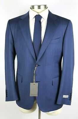 NWT $2195 Canali 1934 Woven Blue Wool Two Button Suit 42 R Classic Fit 52 EU