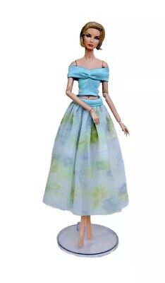 Beautiful Handmade Blue Dress Brand New!For Fashion Royalty,Silkstone, Barbie