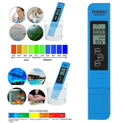 3 In1 Mini Digital LCD TDS EC Meter Water Quality Tester Purity PPM Filter Pen