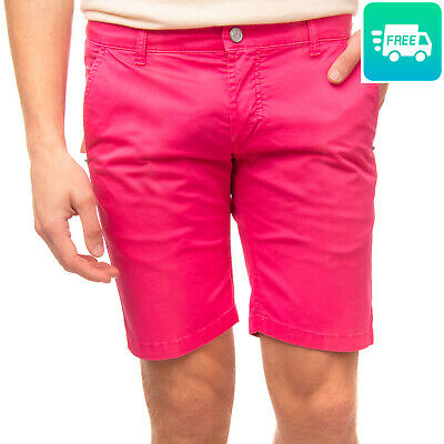 RRP €130 ENTRE AMIS Bermuda Shorts Size 30 Stretch Garment Dye Made in Italy
