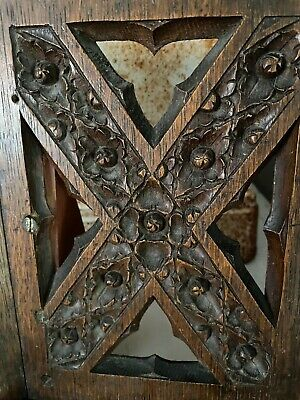 Early CARVED Oak Gothic Church Panel Book Rest