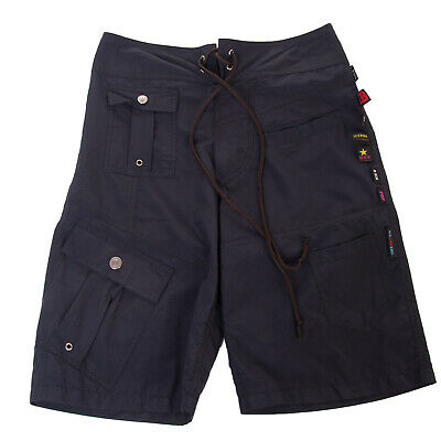 RRP €105 ICE B ICEBERG Shorts Size S Logo Detail Drawstring Front Made in Italy