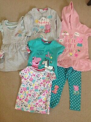 Girls Peppa Pig  Bundle 6 Items All New Without Tags  Or Barely Worn 2-3 Years