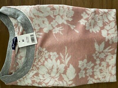 Splendid Women's Long Sleeve TOP ONLY Pajama Set Pink Floral BRAND NWT SIZE M