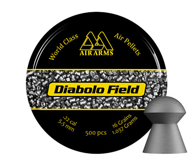 Air Arms Diabolo Field Pellets .22 5.51mm or 5.52mm Air Gun Air Rifle Shooting