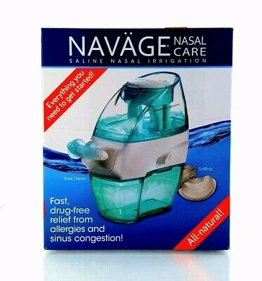 New! Navage Nasal Irrigation System w/18  Sea Salt Pods included~ Only 2 Left!