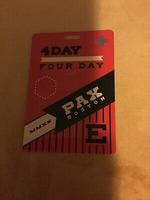 PAX East 2020 4-Day Badge Pass with Free Shipping Boston BCEC