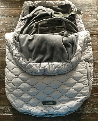 JJ Cole Bundle Me Car Seat And Stroller Cover Gray Fleece Lined Universal
