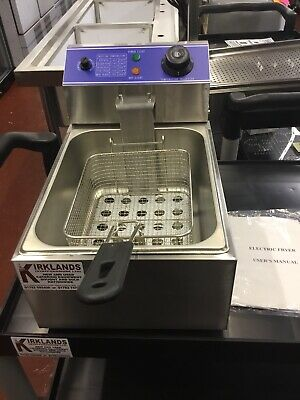 Commercial Chip Fryer 6 Litre Electric Table Top With Safety Cut Out