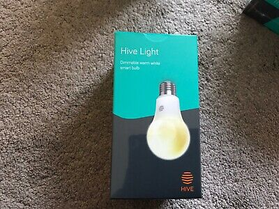 Hive Light Dimmable Warm White Smart Bulb E27 Edison Screw - Brand New