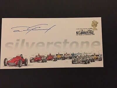 DAN GURNEY Autograph FDC Silverstone 60 years of Fomula one signed 23/50