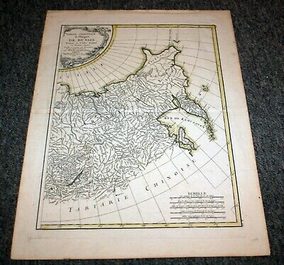 Antique 1785 Map of Eastern Russia in French