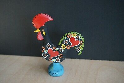 "4.25""  BARCELOS Good Luck Rooster COCK Handpainted ceramic SOUVENIR PORTUGAL"