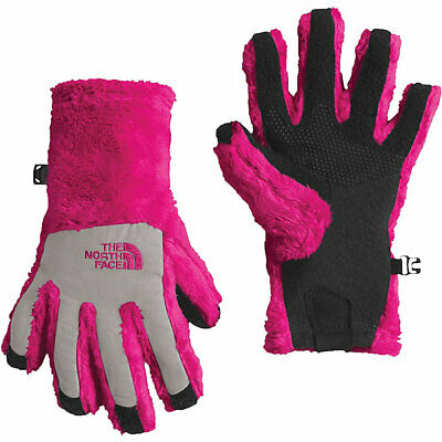 Youth-Medium Petticoat Pink The North Face ETIP Girl/'s Denali Thermal Gloves