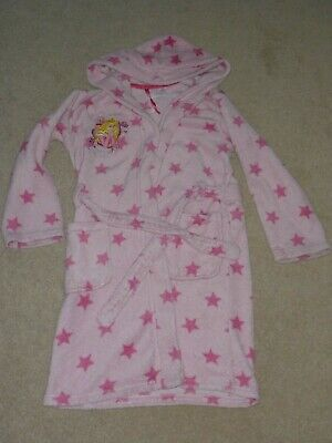 Disney Store girls 7-8 years princess dressing gown towelling robe