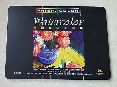 PRISMACOLOR Watercolor Water-Soluble Assorted 24 Colored Pencils #04065