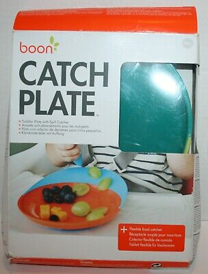 Boon Catch Plate w/Spill Catcher & Suction Base Toddler Kids Baby