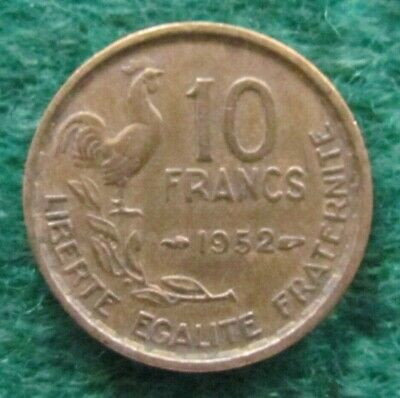 French 1952 10 Franc Coin - Ungraded