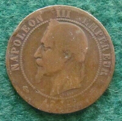 French c1856 ???? A Dix 10 Centimes Coin - Ungraded Date Illegible