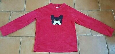 Primark ! Age 8 Years ! Soft Fluffy Fleece French Bulldog Jumper