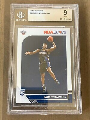 2019-20 NBA HOOPS #258 Zion Williamson Rookie Card RC BGS 9 Mint! QTY