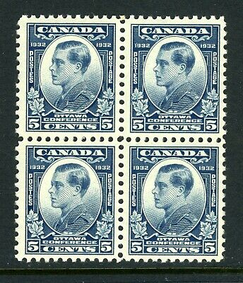 CANADA Scott 193 - NH - BLK of 4 - 5¢ Prince of Wales (.018)