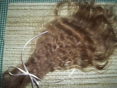 REBORN~1/3oz***LITE GOLD BROWN***++.02 oz. LIGHTEST BROWN CURLY~YEARLING~MOHAIR~